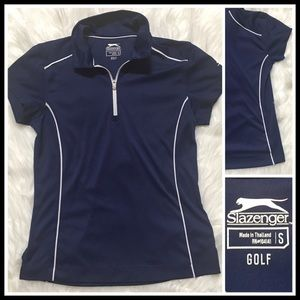 Slazenger Women's Tech Golf Polo in Navy Blue Sm